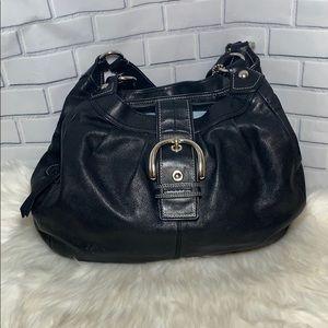 Coach Black Leather Lynn Shoulder Bag F1079 F15075